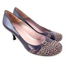 Dolcis Heels Court Shoes Purple UK8 EU 41 Textile Toe Leather Delphine