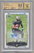 2014 Topps BRANDIN COOKS SP RC Rookie Auto BGS 9.5/10 .5 from 10/10 PRISTINE !!!