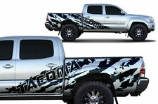 Vinyl Decal Tacoma Shred Wrap for 4D Toyota Tacoma SHORT BED 05-15 Matte Black