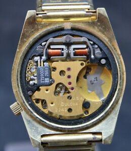 BULOVA QUARTZ ACCUTRON 2242 MENS WRIST WATCH 35.9x42.7mm NO CASEBACK (J2S)