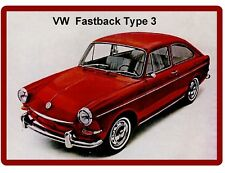 1967 VW Fastback Type 3 Auto Refrigerator / Tool Box Magnet