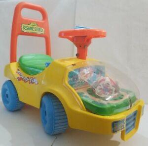 Push & Ride Walker Car Sesame Street Toy 1988 Vintage Big Bird  Bert and Ernie