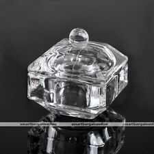 Acrylic Crystal Glass Nail Art Liquid Dappen Dish Bowl Cup Powder Container