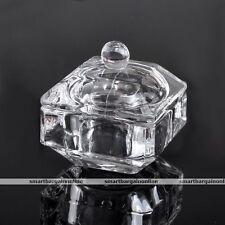 Acrylic Crystal Glass Nail Art Liquid Dappen Dish Bowl Cup Powder Container