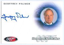 "GEOFFREY PALMER ""ADMIRAL ROEBUCK AUTOGRAPH CARD A157"" JAMES BOND MISSION LOGS"