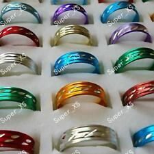 300pcs Aluminum Alloy Fashion Rings Wholesale Jewelry Lots Mixed