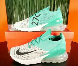 Nike Air Max 270 Flyknit Green Emerald Womens Shoes Size 11/ Mens Size 9.5