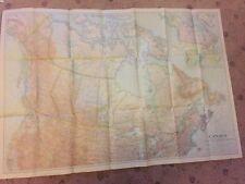 Vintage Canada map. National Geographic, Original, circa 1936 Colour