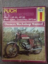 Puch Sports Mopeds, VS 50, VZ 50 & M 50 Sport Haynes Manual