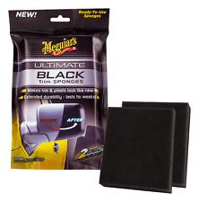 Meguiars Ultimate Black Trim Sponges Plastic Trim Ready To Use Restores G15800