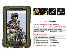 """7.0"""" 4G LTE Rugged Tablet PC Computer Hugerock T70 Android IP67 Quad Core Green"""