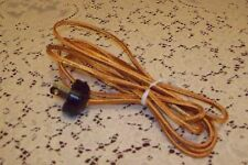 GOLD Rayon Lamp Cord and RIBBED Bakelite Style Plug - 10' Long