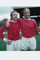 Nobby Stiles Hand Signed 12x8 Photo - Manchester United Autograph 1.