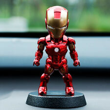 1x Shaking The Head Marrie Couple Car Accessory Decoration Toys Iron Man +Holder