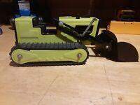 "Tonka Loader T-6 1974  Good Original Working Toy Press Steel 12 1/4"" Long"