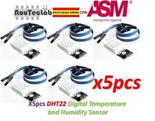 5pcs DHT22 Digital Temperature Humidity Sensor Module AM2302 with PCB and Cable