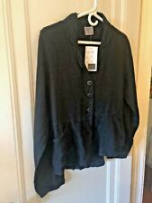 COMPLETO LINO BY ARTHURIO BLACK LINEN JACKET SIZE SMALL NWT
