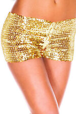 Hot Women's Mini Sequin Casual Night Elastic Pants Bottoming Shorts Size 8-14