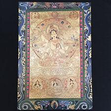 Golden Tara River Guide - Buddha Print Poster - Goddesses Celestial Gallery