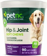 90 Chews PetNC Dog Hip and Joint Support Glucosamine Chondroitin MSM Supplement