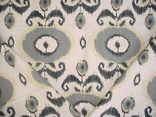 5y Vilber Textiles Egeo Imported Grey Ikat Linen Drapery Upholstery Fabric