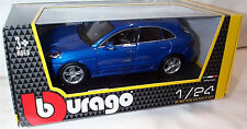 Porsche Macan in blue 1-24 Scale  New burago 21077