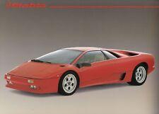 Lamborghini Diablo italia Sportscar Youngtimer alto brillo folleto brochure 74