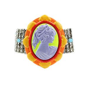 Tom Binns Neon Cameo Crystal Bracelet
