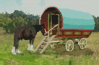 "Gypsy Caravan Complete Counted Cross Stitch Kit 12""x 8"""
