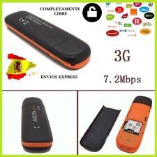 Pincho Internet Módem 3G USB Libre Dongle SIM Todas las compañías - Envío España