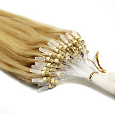 """Natural Brazilian Remy Human Hair Extensions Micro Ring Beads Tip Hair 16""""18""""20"""""""