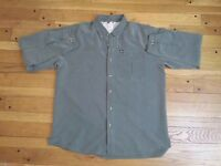 The North Face Men's Long Sleeve Button Up Hiking Shirt XL Green Mesh Vented