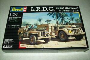 REVELL LONG RANGE DESERT GROUP CHEVROLET & JEEP  1:76 scale  kit