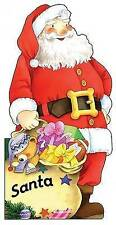 Santa (Little People Shape Books)-ExLibrary