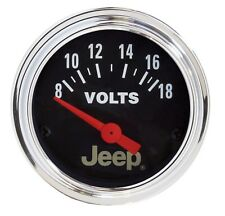 880242 Autometer fits Jeep 52Mm 8-18 Volts Short Sweep Electronic Voltmeter