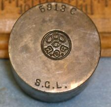 Antique ODD FELLOWS PGR  & 3 RINGS Stamping Die * MC LILLEY