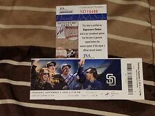 COREY SEAGER SIGNED MLB DEBUT GAME/1ST HIT JSA COA BASEBALL TICKET STUB 9/3/15