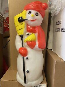 Rare Snowman Blow Mold Christmas