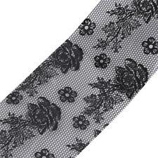 New Design Black Lace Flower Adhesive Polish Foils Transfer Nails Art Sticker