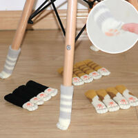 4Pcs Chair Leg Cover Knit Cat Paw Sock Floor Protector Furniture Table Feet Pad