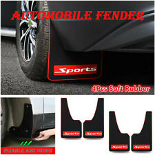 4Pcs Rubber Car Sports Mud Flaps Mudguards Front Rear Fender Splash Guard Parts
