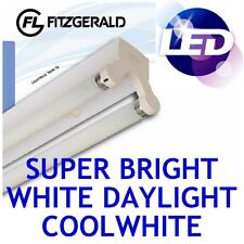 4ft 1200mm Fitzgerald LED Batten Fitting TWIN Tube Light T8 Ceiling 2x 18w = 36w
