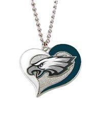 Philadelphia EAGLES Swirl Heart Team Pendant Necklace