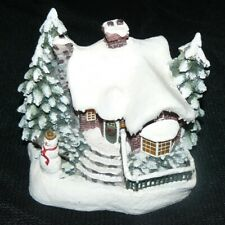 Thomas Kinkade A Village Christmas Teleflora Collectable Cottage Lights Up