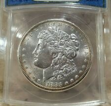 1883 S MORGAN DOLLAR GRADED AU 58 BY ANACS, OLD HOLDER!!!!!