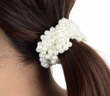 Ivory Pearl Bling Sparkle Hair Head Band Bobble Wedding Party Festival Boutique
