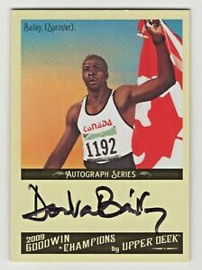 2009 Goodwin Champions Authentic Autograph Donovan Bailey Olympic Sprinter Gold