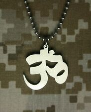 GI Jewelry US Military AUM Necklace HINDU JAIN BUDDHIST