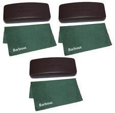 3 pieces - Barbour Glasses Case + Green Lens Cloth - NEW