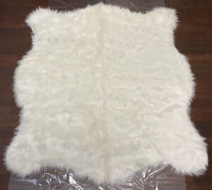 Luxe 100% Faux Fur Area Rug Polar Bear White Throw Carpet 4.25' x 5' New w/Tags